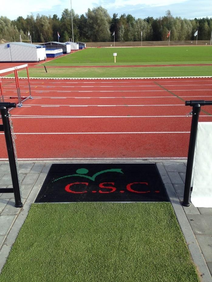 Renovatie atletiekbaan Apeldoorn A.V. '34 door C.S.C. Sport in 2017