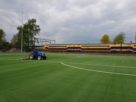 Aanleg kunstgrasvelden locatie Sportweg Tilburg