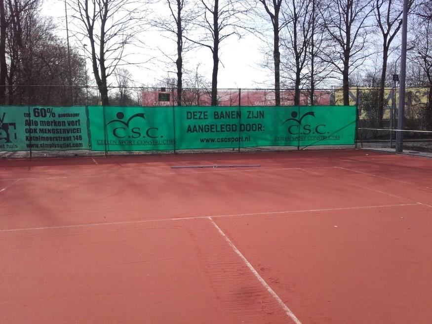 CSC renoveert tennisbanen in Lelystad en Nijkerk