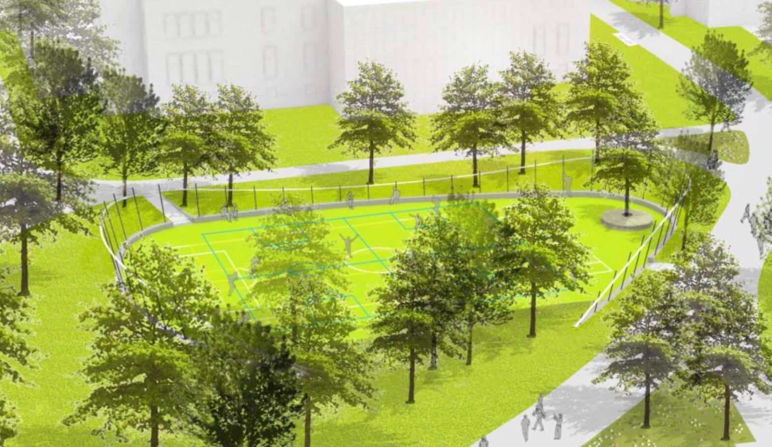 Multifunctioneel sportveld Oosterpark Amsterdam