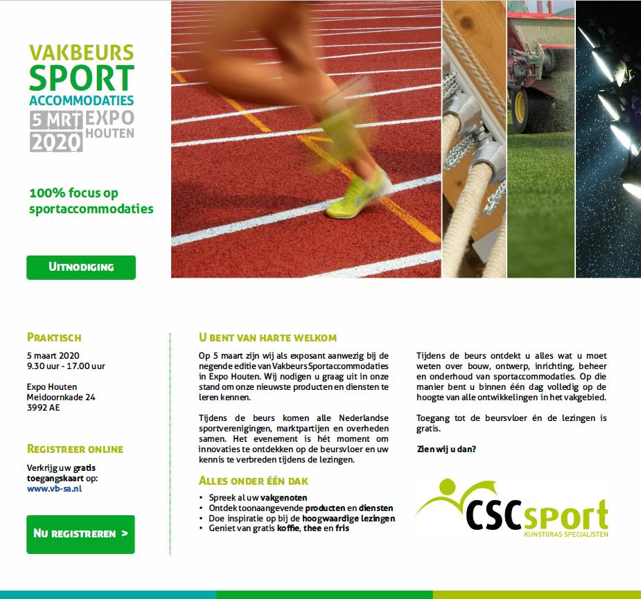 Vakbeurs Sportaccommodaties Expo Houten